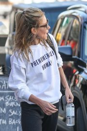 Kelly Ripa wears a phenomenal human graphic sweater in West Hollywood