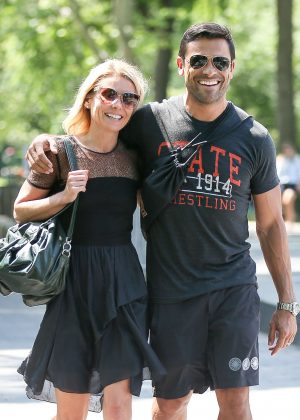 Kelly Ripa with husband out in New York