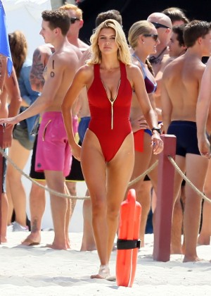 Kelly Rohrbach in red swimsuit -01