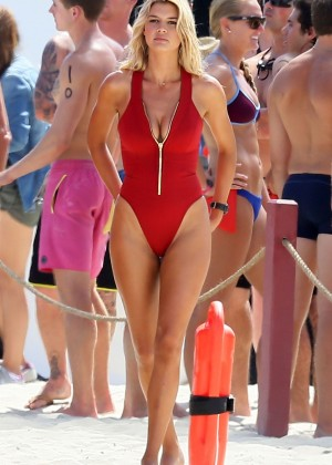 Kelly Rohrbach in red swimsuit -02