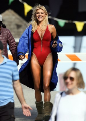 Kelly Rohrbach in red swimsuit -03