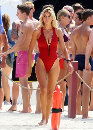 Kelly Rohrbach in red swimsuit -04