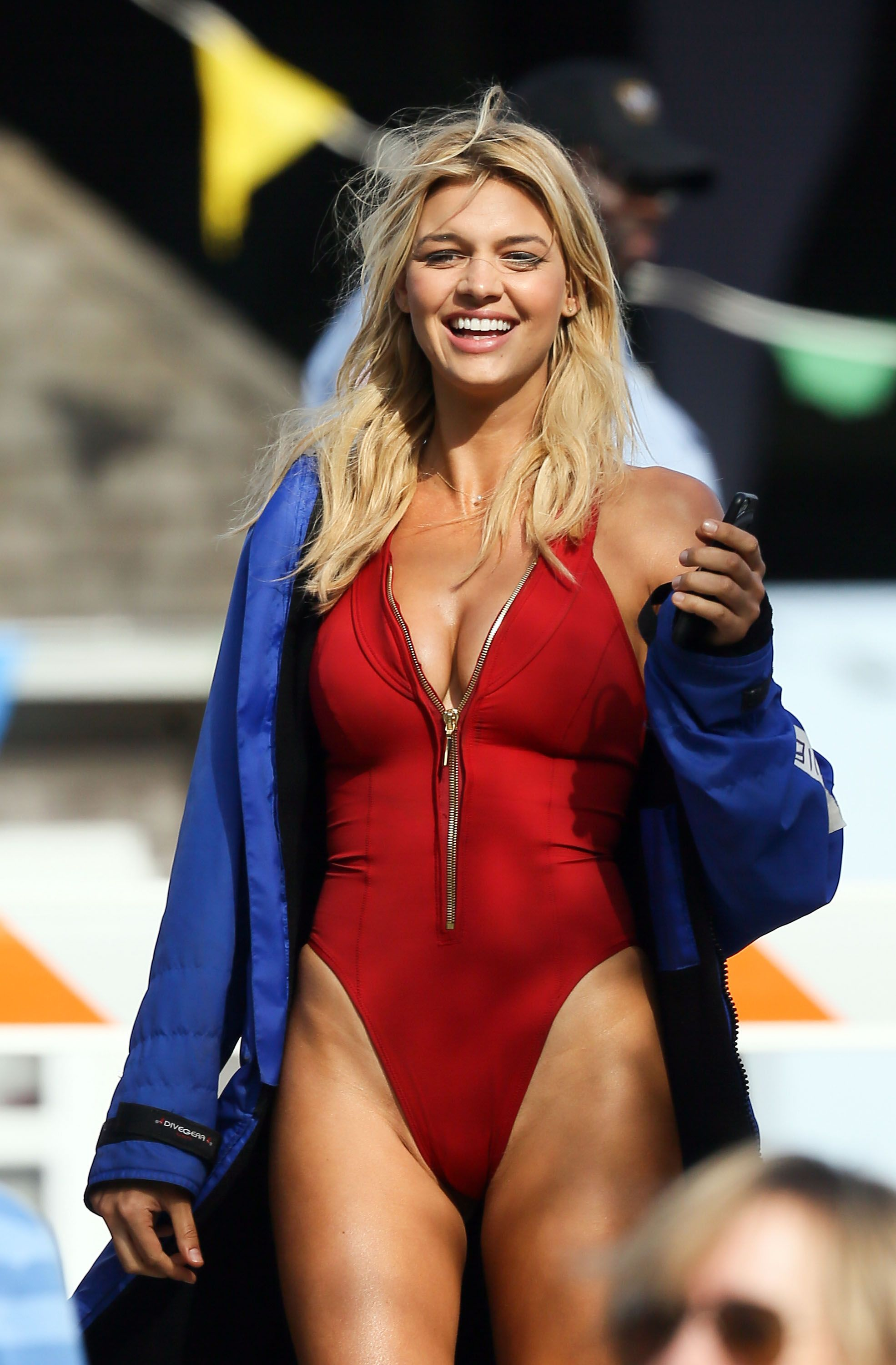 Kelly Rohrbach in red swimsuit -06   GotCeleb