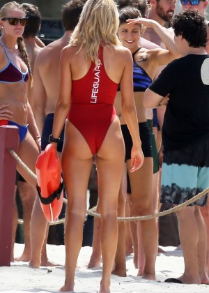 Kelly Rohrbach in red swimsuit -09