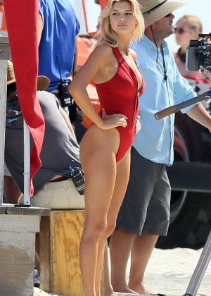Kelly Rohrbach in red swimsuit -11