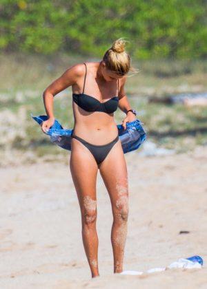 Kelly Rohrbach in Black Bikini on the beach in Honolulu Pic 1 of 35