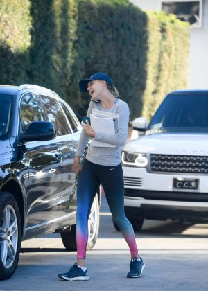 Kelly Rohrbach in Tights out in Beverly Hills