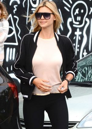 Kelly Rohrbach out for coffee in Los Angeles