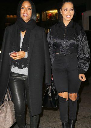 Kelly Rowland and La La Anthony at NOBU Restaurant in New York