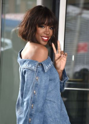 Kelly Rowland at CBS This Morning studios in NYC