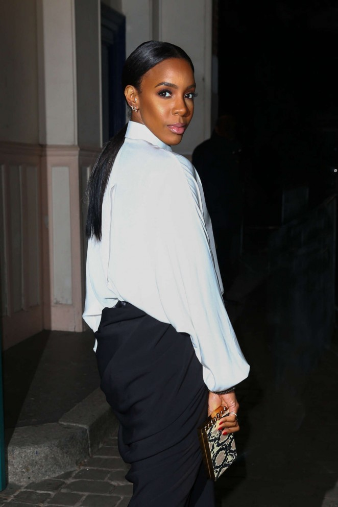 Kelly Rowland at Lanvin Fashion Show 2016 in Paris