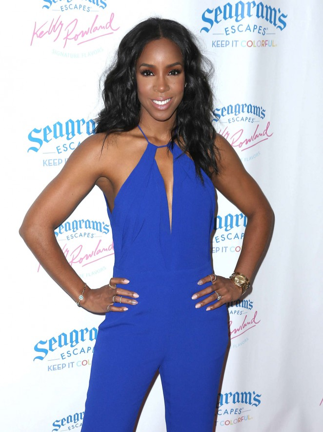 Kelly Rowland at Seagram's Escapes Signature Flavors Launch Event in New York