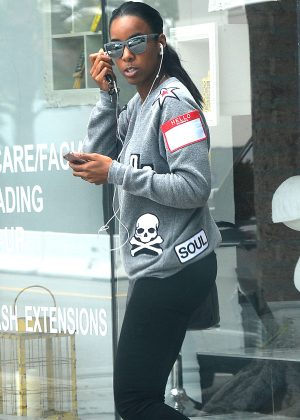 Kelly Rowland in Tights Out in Beverly Hills