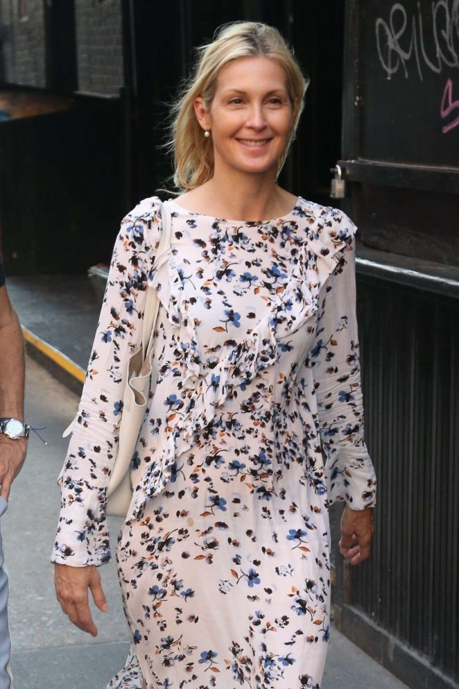 Kelly Rutherford in Long Dress - Out in New York