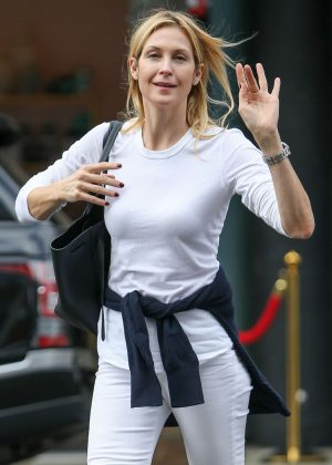 Kelly Rutherford in White Pants out in Beverly Hills