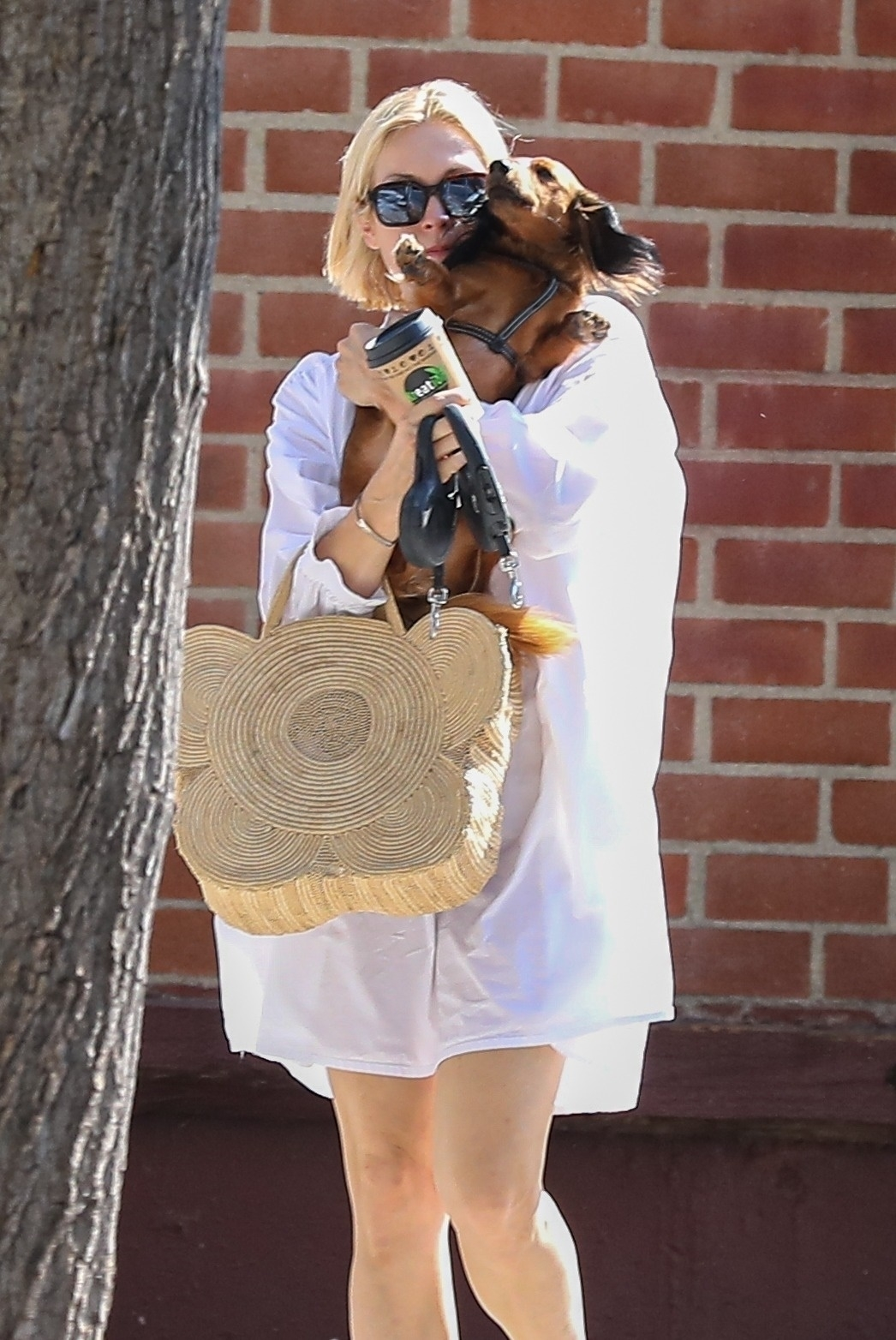 Kelly Rutherford - Seen with her two dogs on Labor Day in Beverly Hills