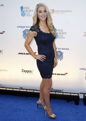 Kelly Tuttle - One Night for ONE DROP Blue Carpet in Las Vegas