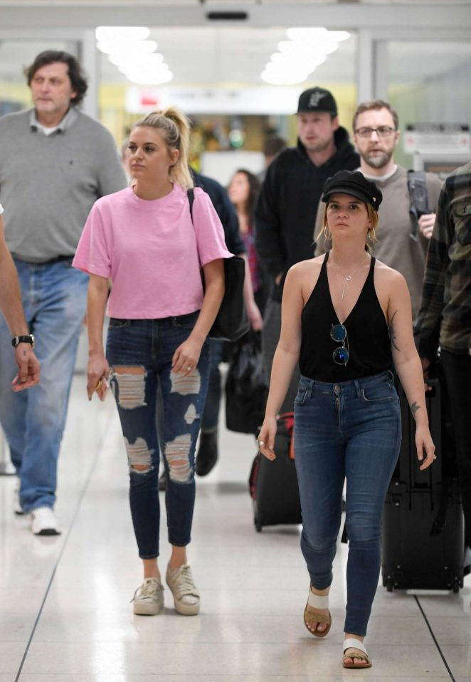 Kelsea Ballerini and Maren Morris at LAX Airport in Los Angeles