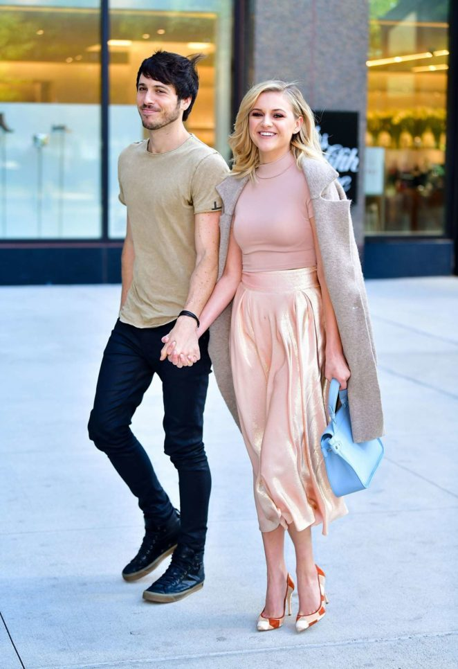 Kelsea Ballerini with Morgan Evans out in NYC
