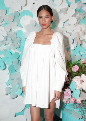 Kelsey Chow - Tiffany Paper Flowers Event in New York City