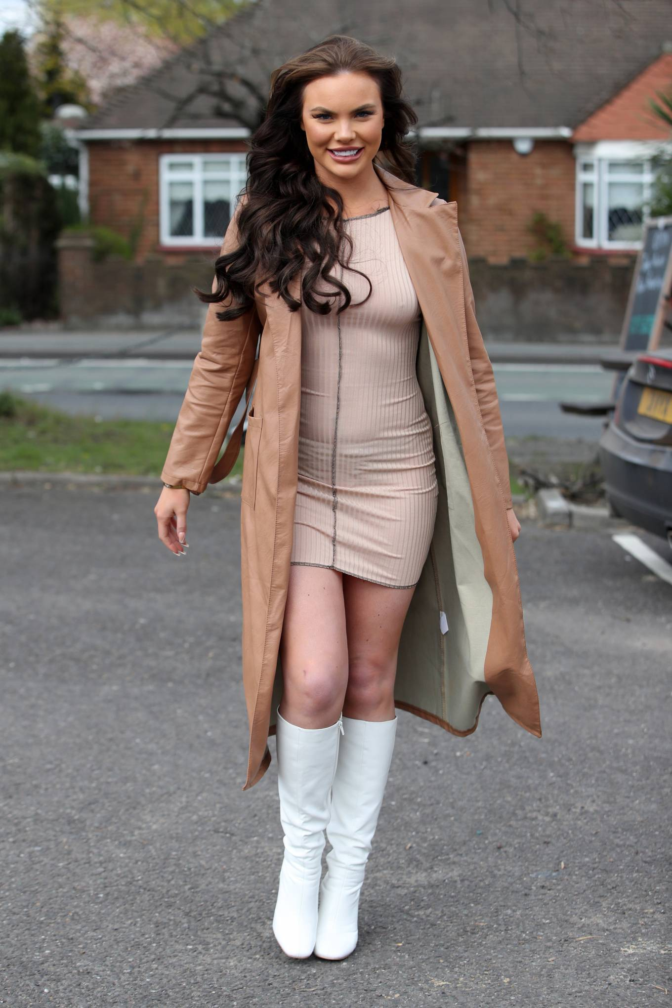 Kelsey Stratford - The Only Way is Essex TV Show filming in Essex