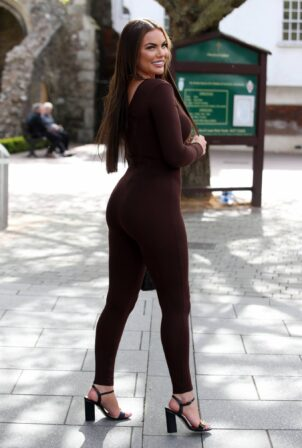 Kelsey Stratford - The Only Way is Essex TV Show filming
