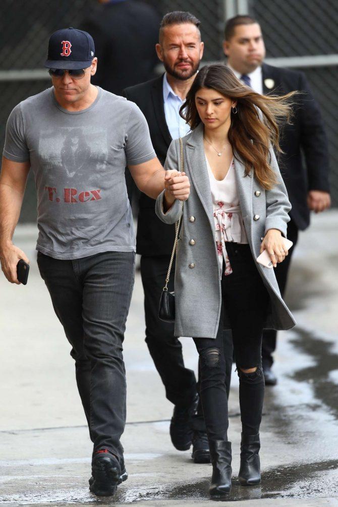 Kelsi Taylor and Dane Cook - Arrives at Jimmy Kimmel Live in Los Angeles