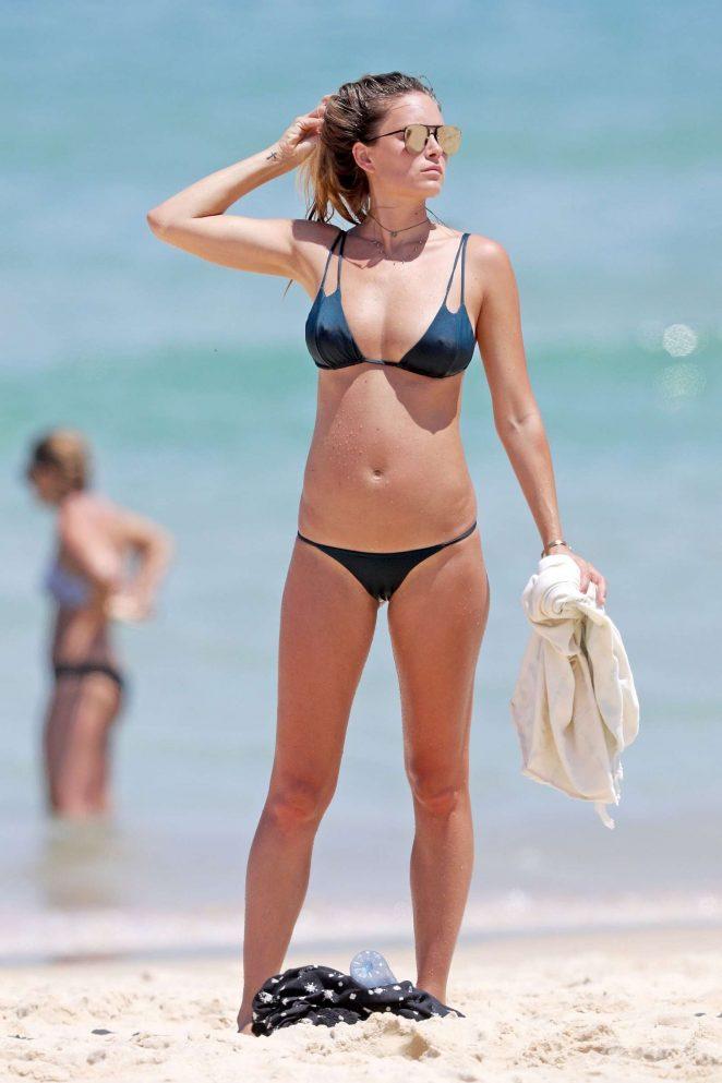 Kendal Lee Schuler in Red Bikini at Bondi Beach in Sydney