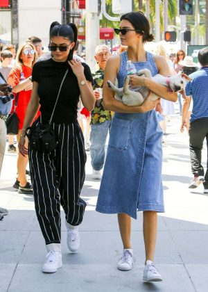 Kendall and Kylie Jenner Out in Beverly Hills