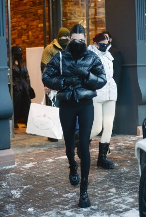 Kendall and Kylie Jenner - Shopping candids in Aspen