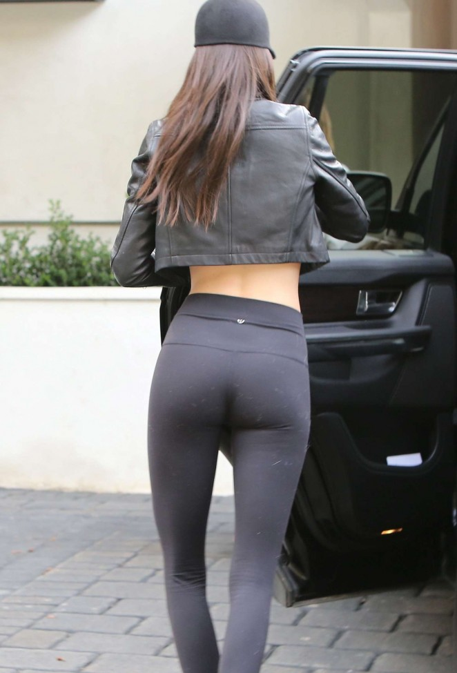 Kendall Jenne in Tight Leggings out in Malibu