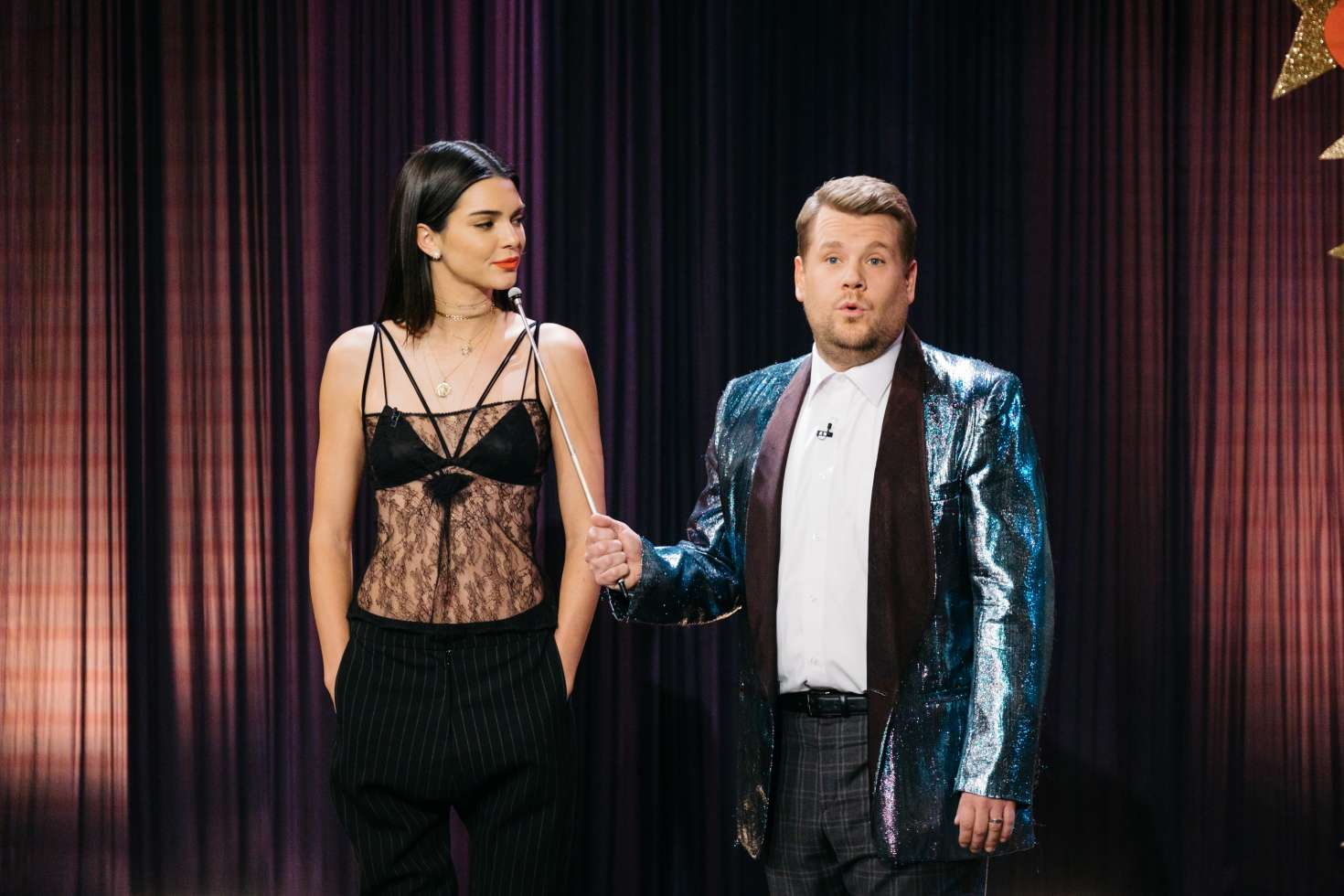 Kendall Jenner 0n The Late Late Show with James Corden -02 | GotCeleb