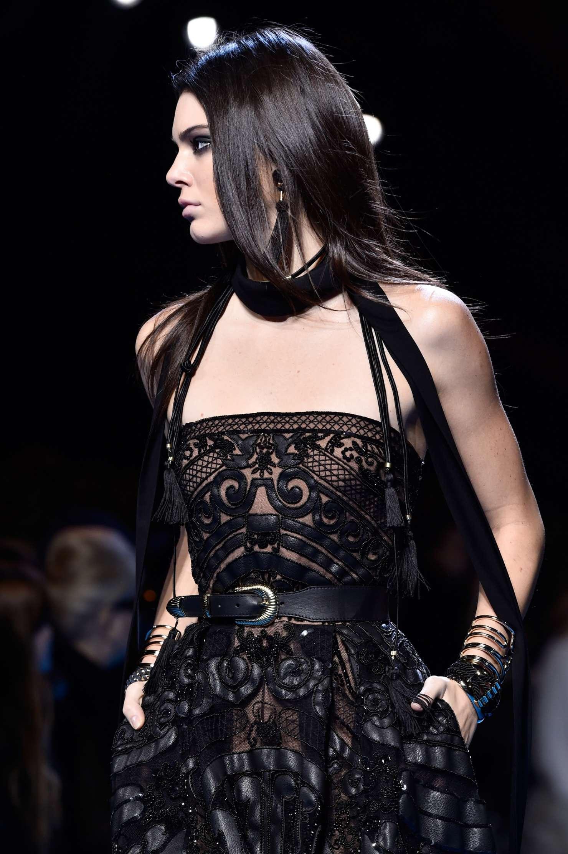Kendall Jenner 2015 Paris Fashion Week Elie Saab Show