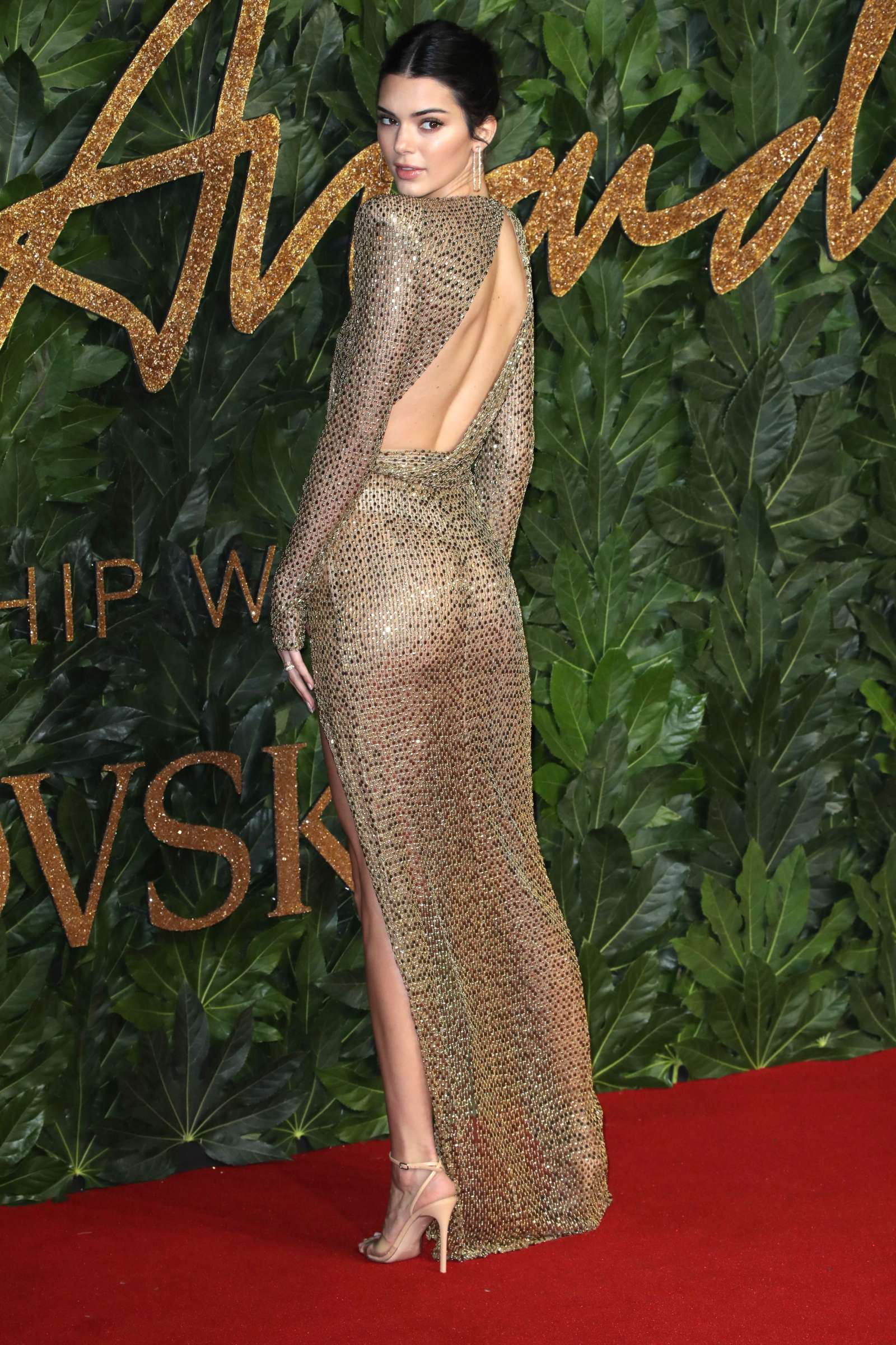 Kendall Jenners British Fashion Awards Dress Is See