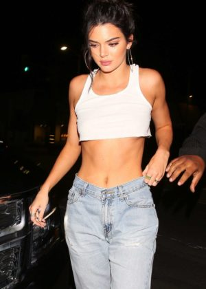 Kendall Jenner - 22nd birthday dinner at Petite Taqueria in West Hollywood