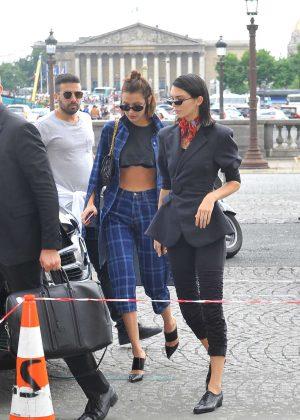 Kendall Jenner and Bella Hadid - Heading to Miu Miu in Paris