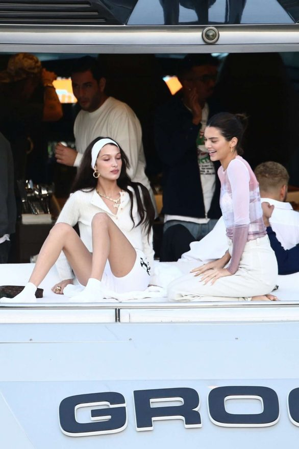 Kendall Jenner and Bella Hadid - On David Grutman's yacht in Miami