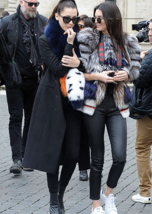 Kendall Jenner and Bella Hadid - Out and about in Rome