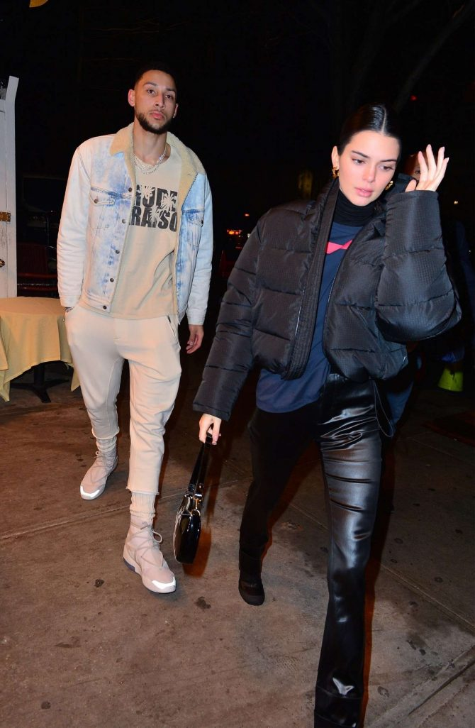 Kendall Jenner and Ben Simmons - Leaving the Mercer Hotel in New York