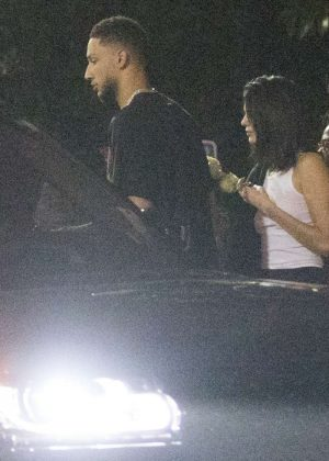 Kendall Jenner and boyfriend Ben Simmons - Arriving at Hyde in LA
