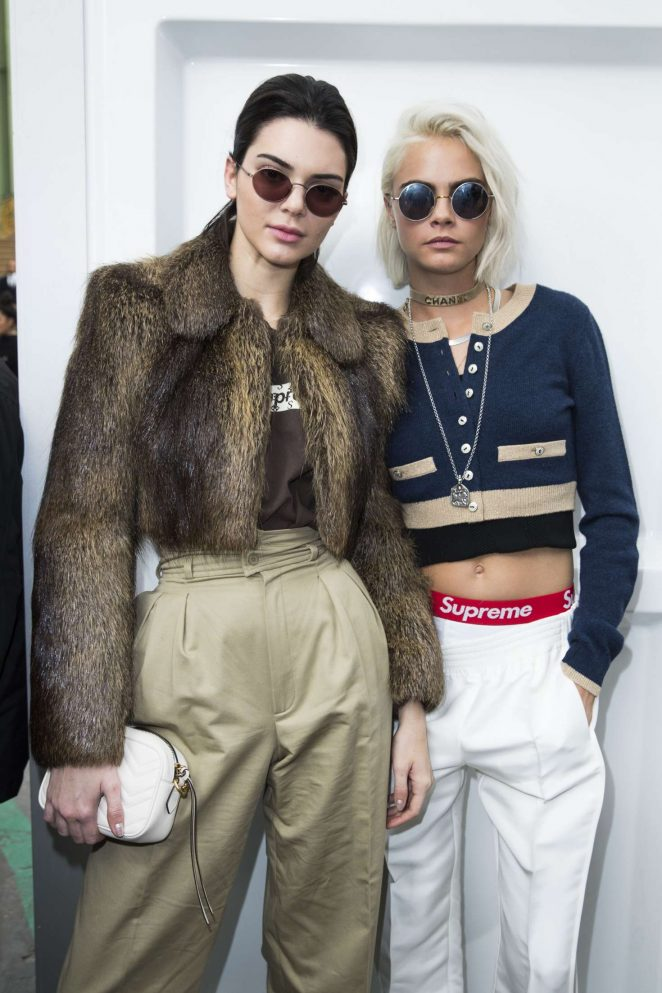 Kendall Jenner and Cara Delevingne – Chanel Show at 2017 PFW in Paris