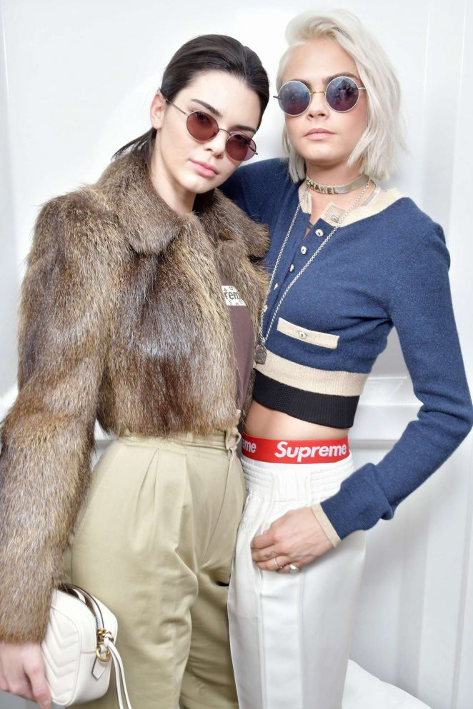 Kendall Jenner 2017 : Kendall Jenner and Cara Delevingne: Chanel Show at 2017 PFW -03