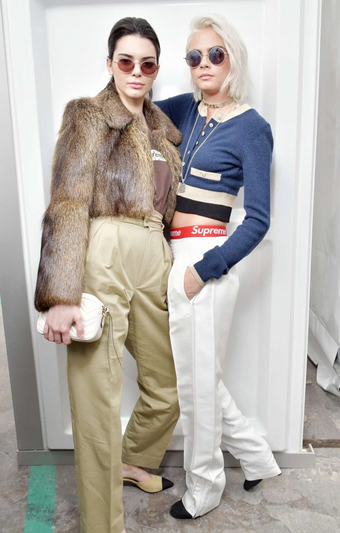 Kendall Jenner and Cara Delevingne: Chanel Show at 2017 PFW -04