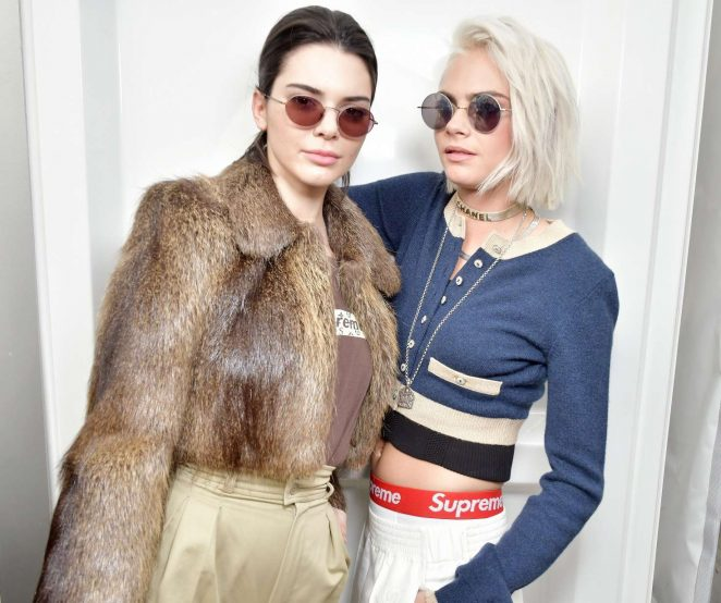 Kendall Jenner 2017 : Kendall Jenner and Cara Delevingne: Chanel Show at 2017 PFW -08