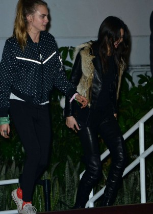 Kendall Jenner and Cara Delevingne - Leaves Weeknd's Concert in Los Angeles