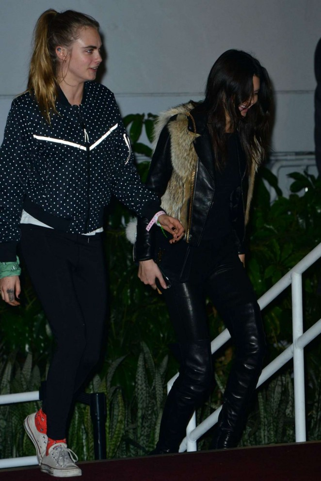 Kendall Jenner and Cara Delevingne – Leaves Weeknd's Concert in Los Angeles