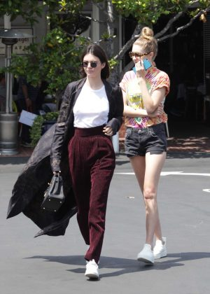Kendall Jenner and Gigi Hadid at Fred Segal in Beverly Hills
