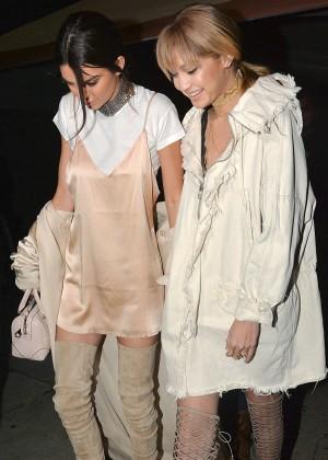 Kendall Jenner and Gigi Hadid - Leaving The Nice Guy Club