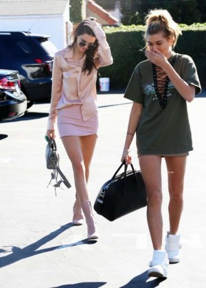 Kendall Jenner and Hailey Baldwin at Fred Segal in West Hollywood