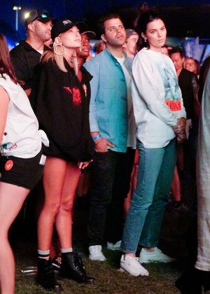 Kendall Jenner and Hailey Baldwin at Panorama Music Festival in New York